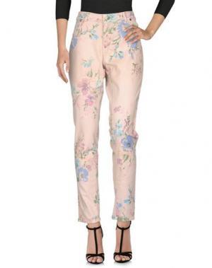 Джинсовые брюки MARANI JEANS. Цвет: светло-розовый