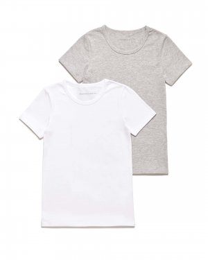 Набор из 2х футболок Benetton. Цвет: серый
