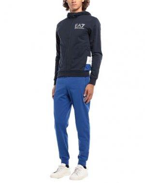 Фитнес комплект EA7. Цвет: темно-синий