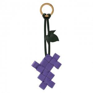 Брелок для ключей Bottega Veneta. Цвет: фиолетовый