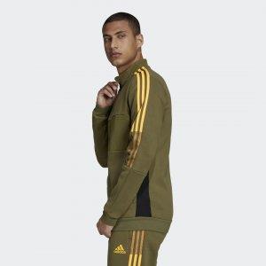 Зимняя олимпийка Tiro Sportswear adidas. Цвет: оливковый