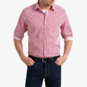 Рубашка LaRedoute. Цвет: красный