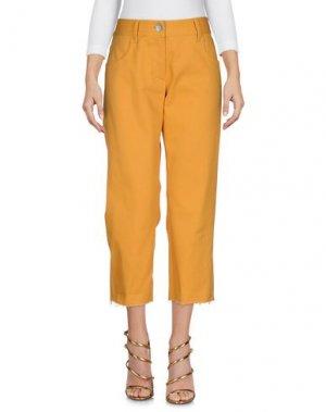 Джинсовые брюки-капри ALESSIA_XOCCATO. Цвет: охра
