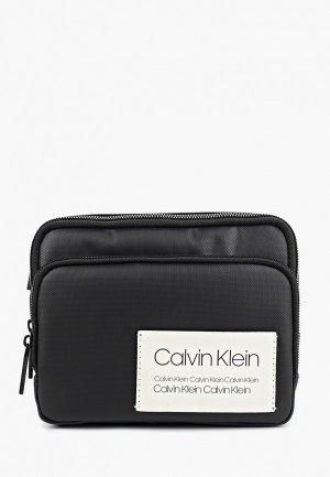 Сумка поясная Calvin Klein Jeans. Цвет: черный
