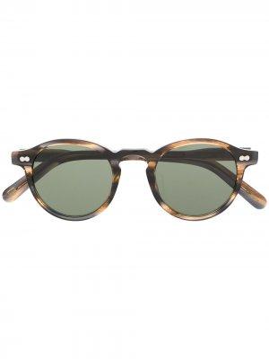 Солнцезащитные очки Miltzen в круглой оправе Moscot. Цвет: коричневый