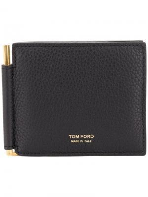 Кошелек с зажимом для денег TOM FORD. Цвет: черный