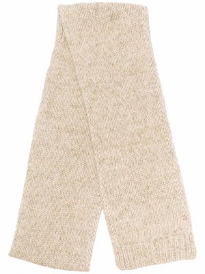 Knitted alpaca-blend scarf Maison Margiela. Цвет: зеленый
