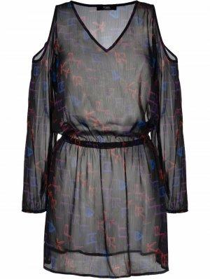 Пляжное платье Karl Lagerfeld. Цвет: черный