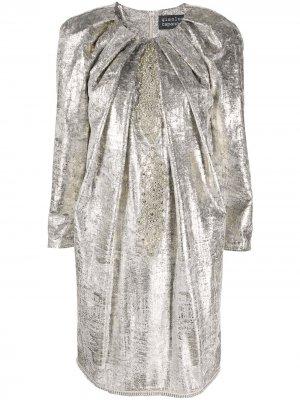 Декорированное платье-трапеция длины мини Gianluca Capannolo. Цвет: серебристый