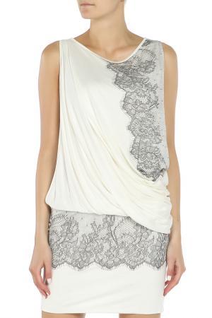 Платье PLEIN SUD JEANIUS. Цвет: белый