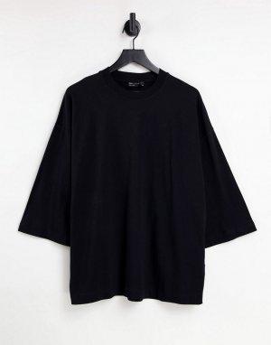 Черный oversized-лонгслив с широкими рукавами -Черный цвет ASOS DESIGN
