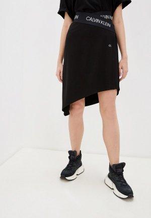 Юбка Calvin Klein Performance. Цвет: черный