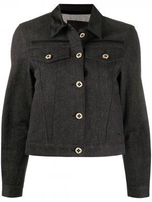 Джинсовая куртка с контрастным воротником Ports 1961. Цвет: черный