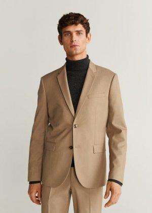 Костюмный пиджак Superslim fit - Paulo Mango. Цвет: бежевый