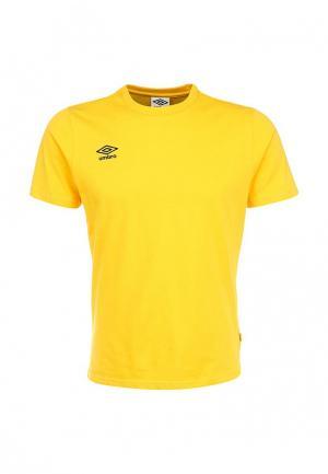Футболка Umbro SMALL LOGO CVC TEE. Цвет: желтый