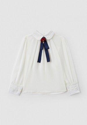 Блуза Соль&Перец. Цвет: белый
