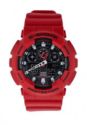 Часы Casio G-SHOCK GA-100B-4A. Цвет: красный