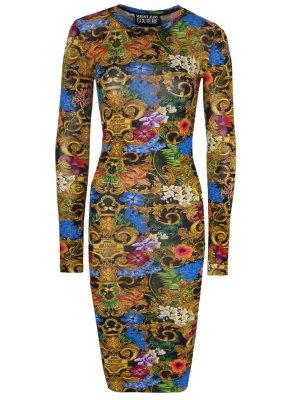 Платье-миди с принтом VERSACE JEANS COUTURE