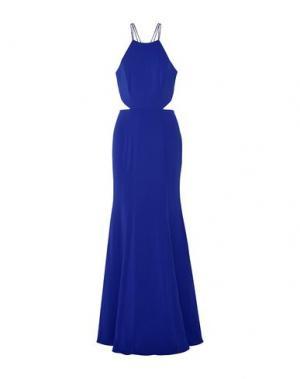 Длинное платье MARCHESA NOTTE. Цвет: ярко-синий