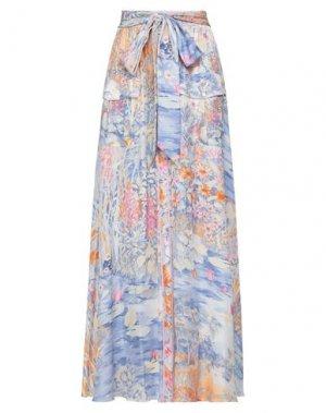 Длинная юбка LEONARD Paris. Цвет: пастельно-синий