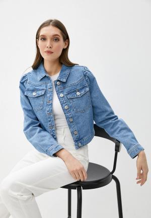 Куртка джинсовая Pieces. Цвет: голубой