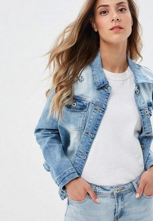 Куртка джинсовая Savage. Цвет: голубой