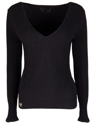 Однотонный пуловер Philipp Plein. Цвет: черный