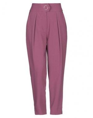 Повседневные брюки ANNARITA N. Цвет: розовато-лиловый