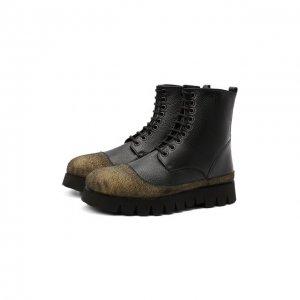 Кожаные ботинки Rocco P.. Цвет: чёрный