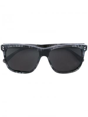 Солнцезащитные очки в прямоугольной оправе Stella Mccartney Eyewear. Цвет: чёрный
