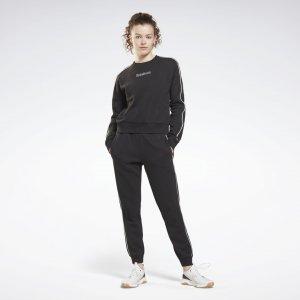 Спортивный костюм Piping Reebok. Цвет: black