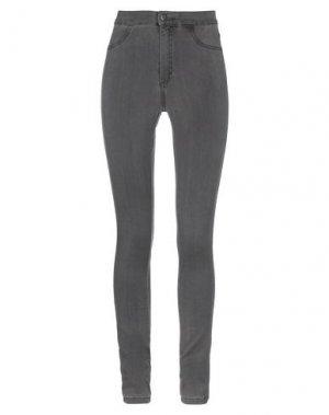 Джинсовые брюки MINIMUM. Цвет: стальной серый