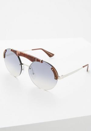 Очки солнцезащитные Prada PR 52US C135R0. Цвет: серебряный