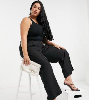 Черные широкие брюки -Черный Junarose