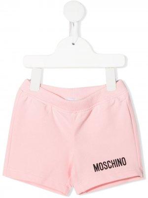 Logo-embellished jersey shorts Moschino Kids. Цвет: розовый