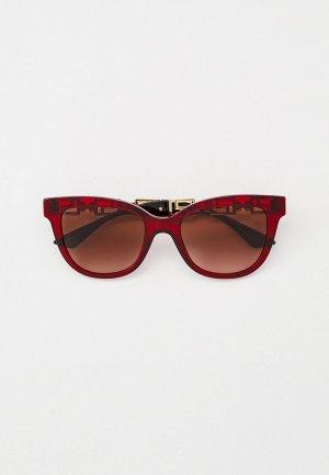 Очки солнцезащитные Versace VE4394 388/13. Цвет: красный
