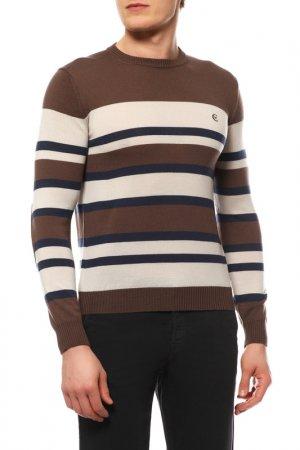 Пуловер Cerruti. Цвет: коричневый, бежевый, синий