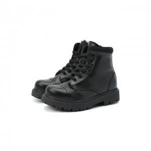 Кожаные ботинки Montelpare Tradition. Цвет: чёрный