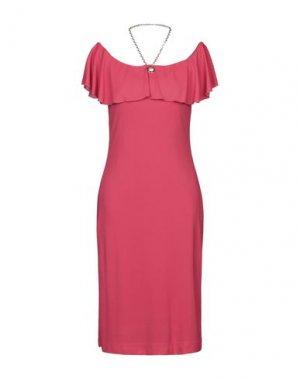 Платье до колена CLIPS. Цвет: фуксия