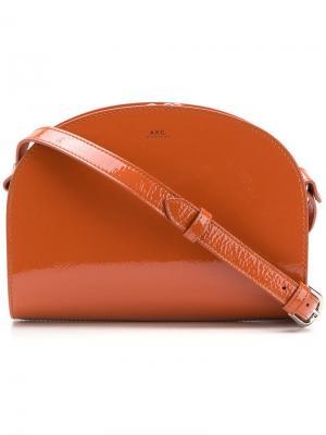 Сумка через плечо с логотипом A.P.C.. Цвет: оранжевый