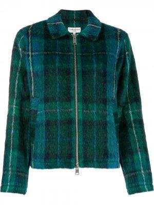 Куртка-бомбер в клетку тартан YMC. Цвет: зеленый