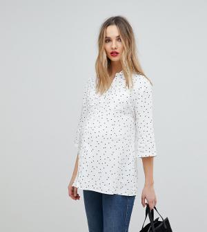 Рубашка со звездным принтом Isabella Oliver. Цвет: белый