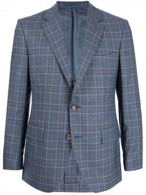 Пиджак в клетку Gieves & Hawkes. Цвет: синий