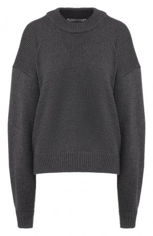 Шерстяной свитер Alexander Wang. Цвет: серый