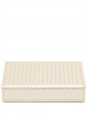 Шкатулка с набором игральных карт Pinetti. Цвет: золотистый