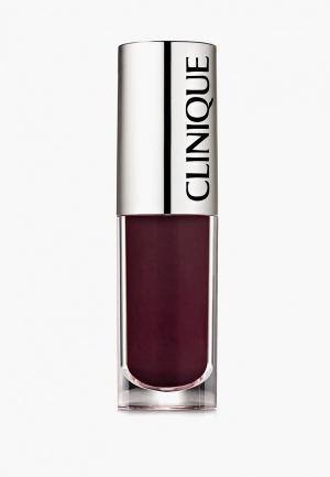 Блеск для губ Clinique Pop Splash lip gloss + hydration, 20 Sangria Pop, 4.3 мл.. Цвет: бордовый