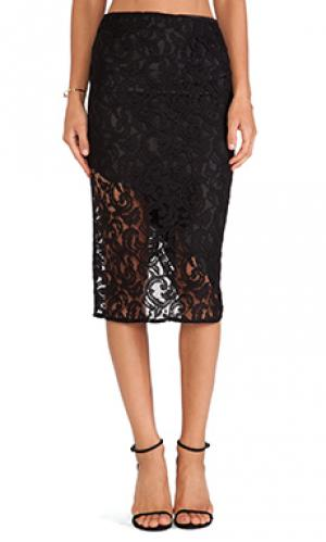 Кружевная юбка sasha Boulee. Цвет: черный