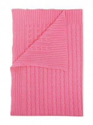 Одеяло фактурной вязки Little Bear. Цвет: розовый