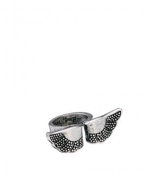Кольцо с крыльями Wear Boom Bap. Цвет: серебряный
