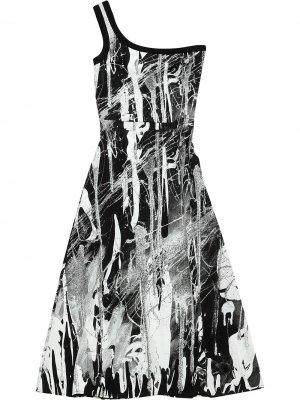 Платье Mindscape на одно плечо Christopher Kane. Цвет: черный